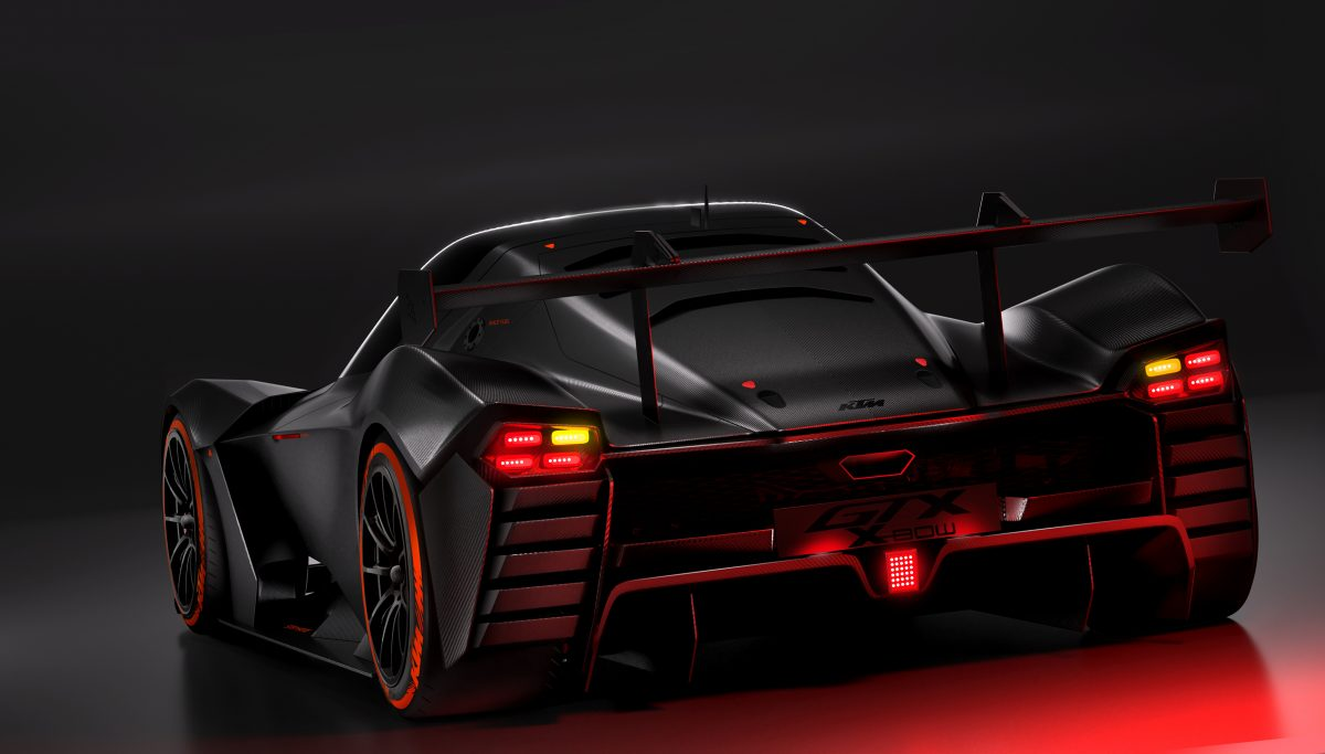 Rear view of KTM X-BOW GTX